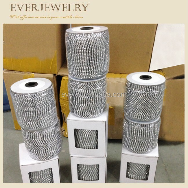 wholesale crystal strass cup chain rhinestones trimming roll