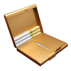Metal Aluminum Blank Cigarette Case 20pcs / Wallet Cigarette Case