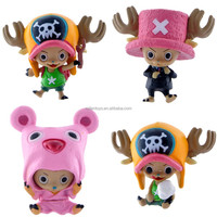 4Pcs/set One Piece Lovely TonyTony Tony Chopper Keychain Action Figure Pendant anime one piece figure Figurine Dolls Toys