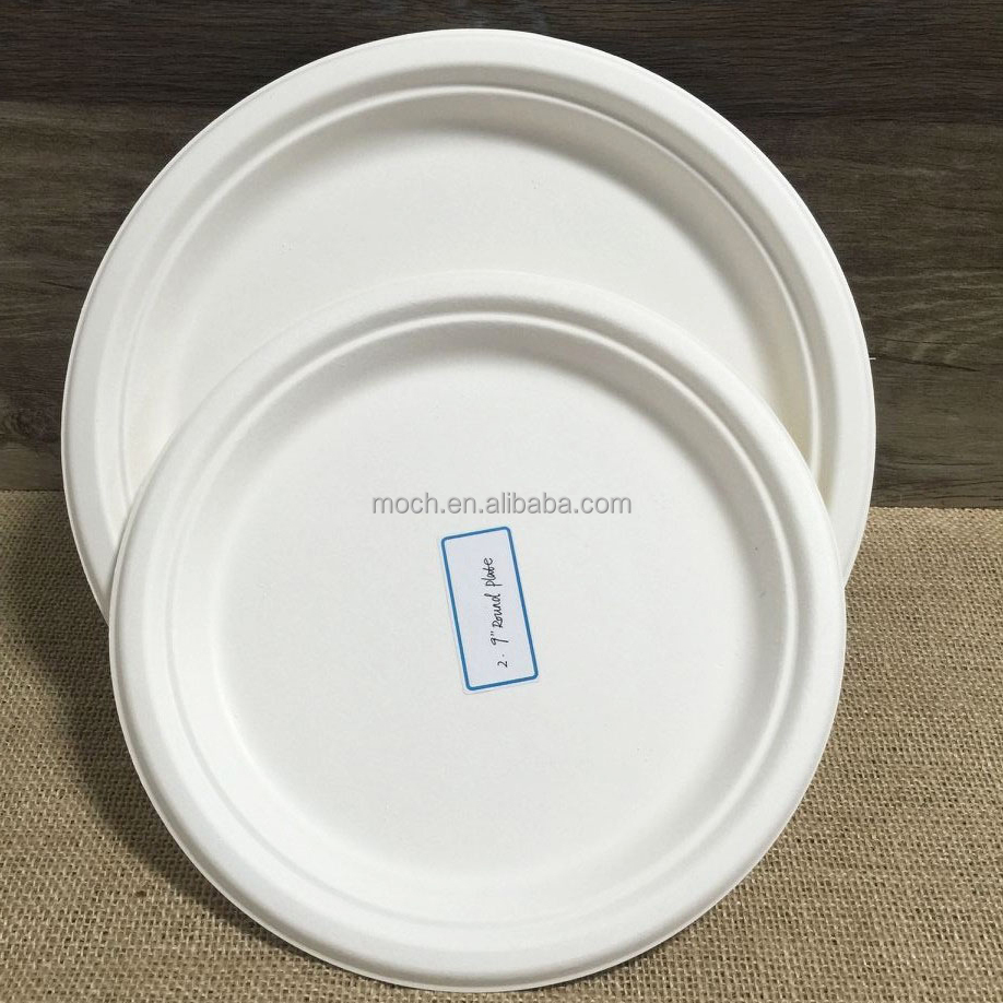 China manufacturer party supplies Bagasse Plate