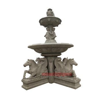 Garden Decor Products Marble Flying Horse Water Fountain