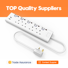 High quality multiple outlets power strip extension eu usb socket