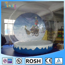 Giant Unique Indoor or Outdoor Inflatable Snow Globes For Christmas Advertising Decoration