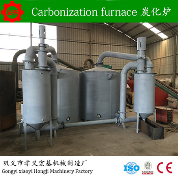Smokeless wood charcoal production carbonization furnace