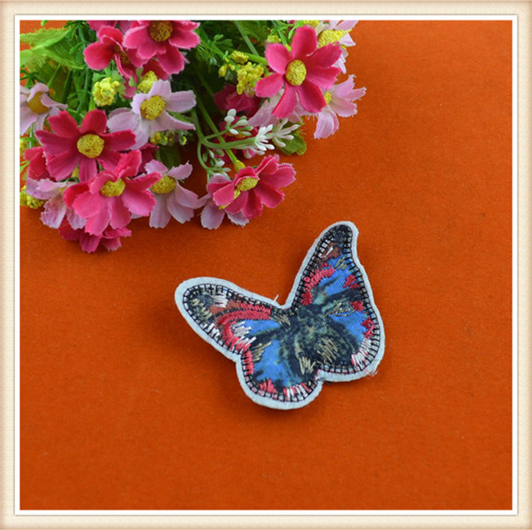 Fancy butterfly embroidery patch embroidered iron on