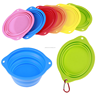 Promotion cheap pet products silicone pet bowl foldable dog feeder bowls