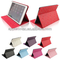 China supplier bling bling filp leather case cover for ipad air , for ipad air flip cover