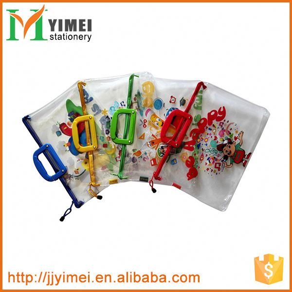 Transparent Expanding Plastic Envelope With Handle for school kids