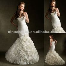 NY-2426 Eye-catching design with handmade flowers on skirt wedding dress