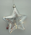 Glass star shaped for christmas decoration with LED light