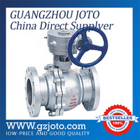 Q341F,Q341Y cast steel type worm gear operated ball valve