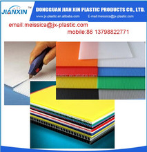 pp hollow plastic PP corrugated colourful sheet