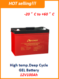 12V24ah UPS battery, High temperature Deep Cycle Gel Battery