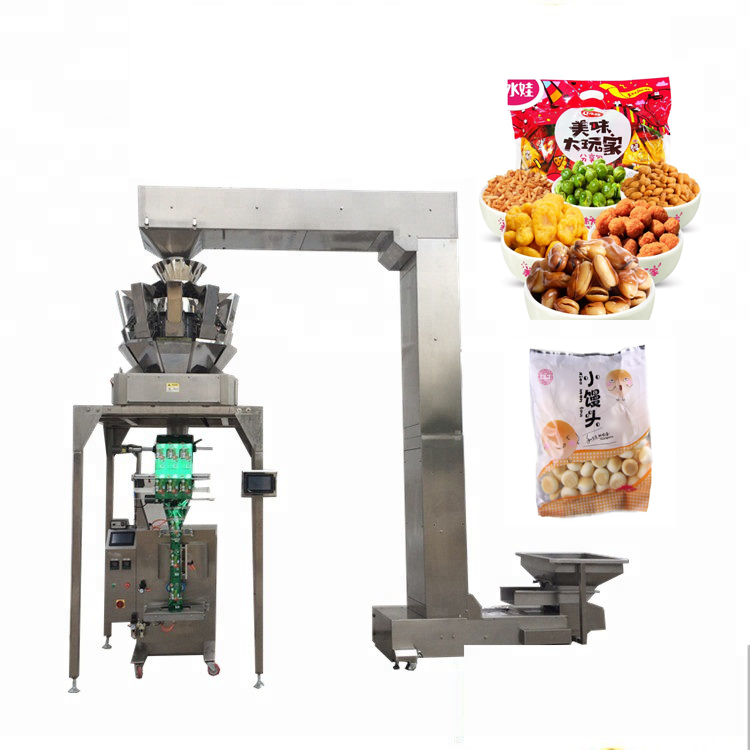 Automatic YB-<strong>Z10</strong> 10 head weigher pet food oatmeal packaging silica gel packing machine