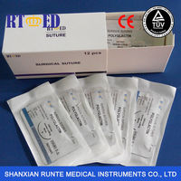 CE appoved machines for production line of surgical suture with needle