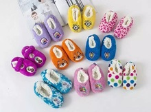 Wholesale baby wool shoes soft baby plush sock cute infant shoes with high quaity