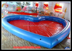 loving heart inflatable swiming pool / inflatable pool table / inflatable indoor pool malaysia