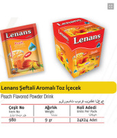 Lenans Peach Flavored Powder drink 9 gr. - 1,5 lt.