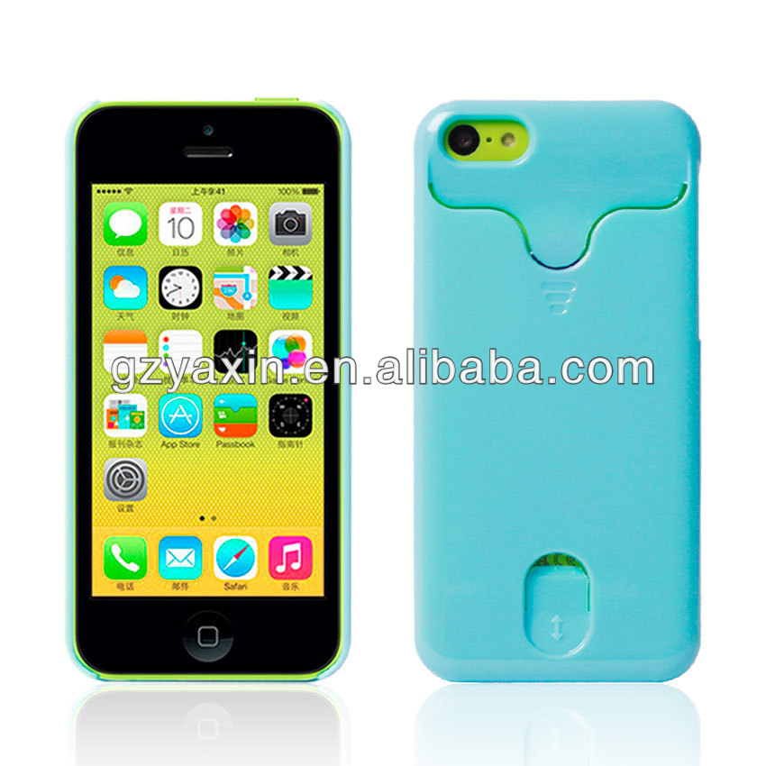 Cheapest price credit card flip case for iphone 5c