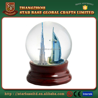 Welcome your own design custom famous sites dubai snow globe souvenir