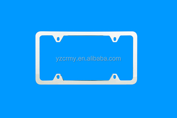 Flat thin panel license plate frames