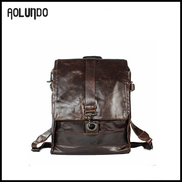 New fashion mens cheap leather PU laptop backpacks bags