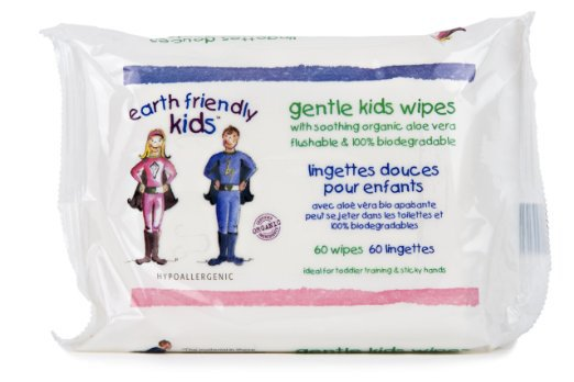 60CT Biodegradable Kids Wet Wipes Flushable Cleaning Cloth