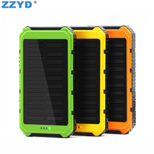 Portable solar battery charger Dual USB External Battery 4000mAh Solar Power Bank For Mobile Phone Pack Waterproof Led Charger