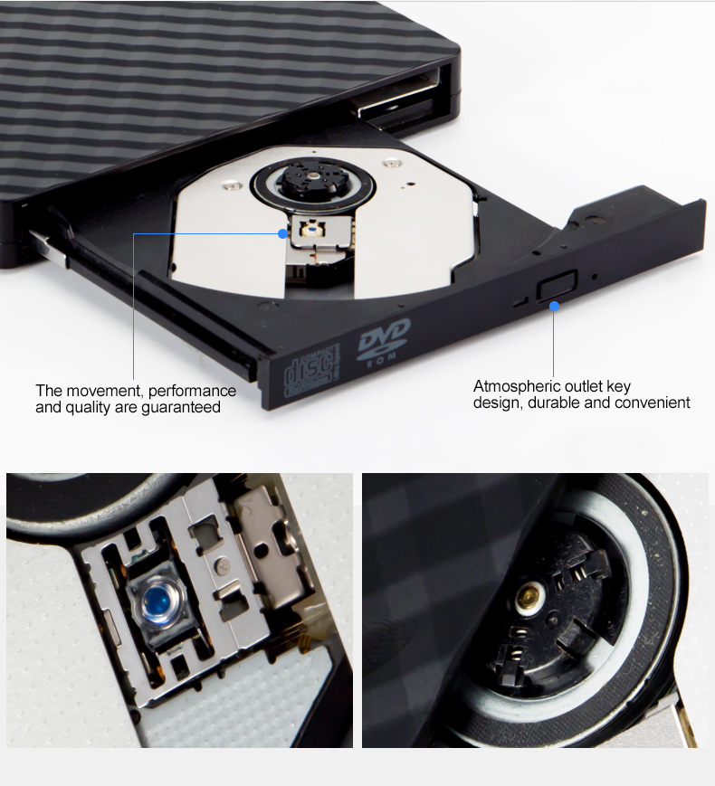 Super Multi CD DVR DVD Drive portable USB External optical drive DVD Burner Writer