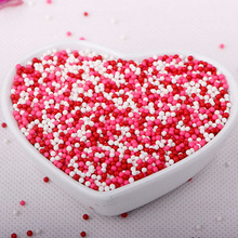 Pink and White Nonpareil Sprinkles
