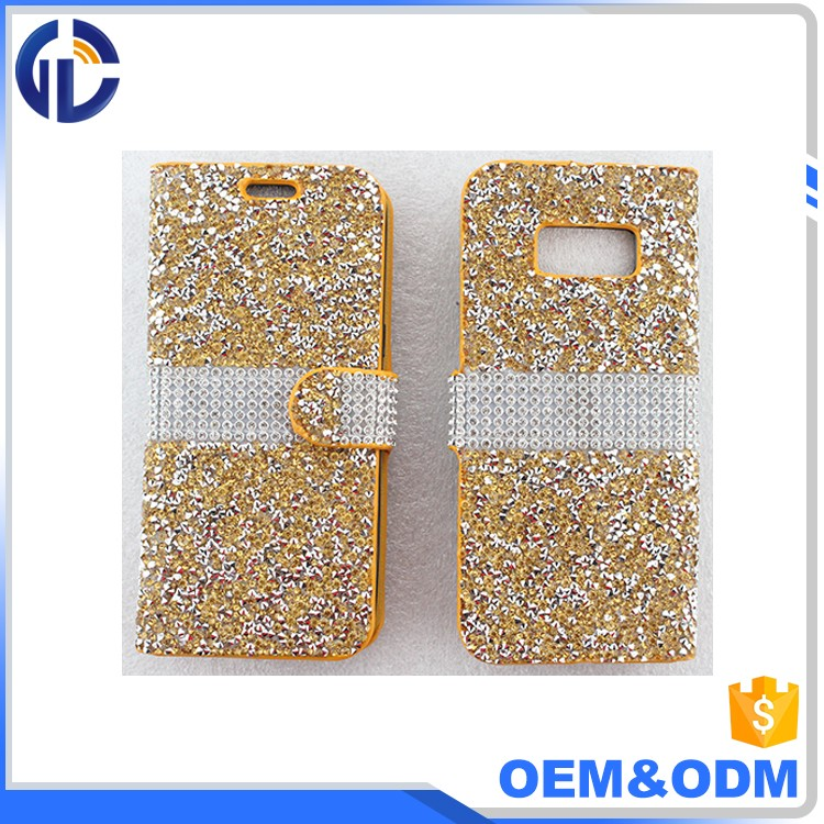 Best Selling Products bling diamond wallet hybrid phone case For Samsung Galaxy s8