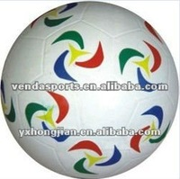 Official size colorful elasticity soccer ball
