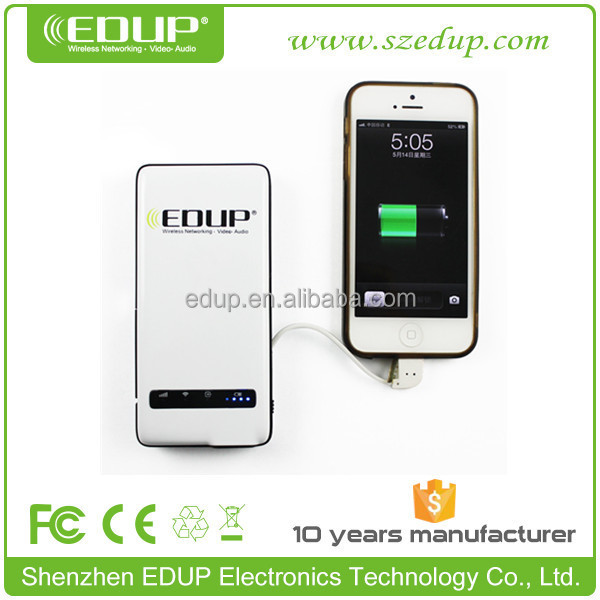 Best Seller 150mbps EDUP pocket power ban Mobile 3g wireless router with sim card slot EP-9512N