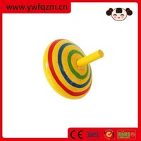 wooden kids spinning top toy