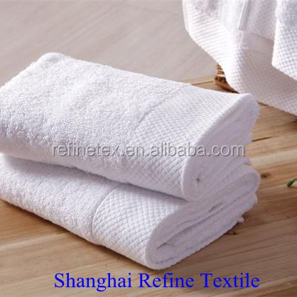 white solid color pure cotton towel, High Hotel Towel combed cotton