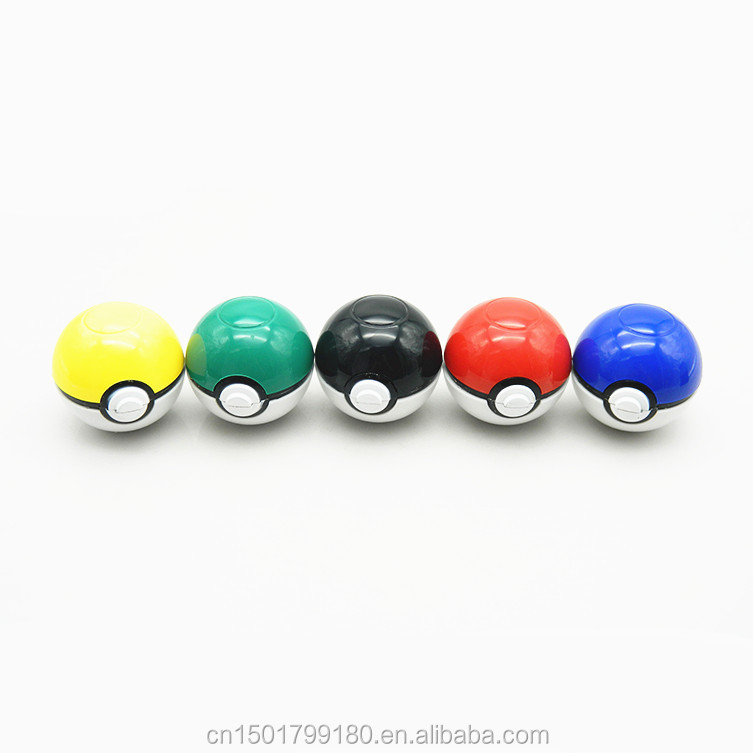 3 Layers Metal Zinc Alloy Plastic Pokeball Herb Grinder Diameter 55MM Popular Smoking Crusher Single Package Wholesale EKJ JLQ-D