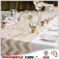 high quality hand embroidered table runner for wedding
