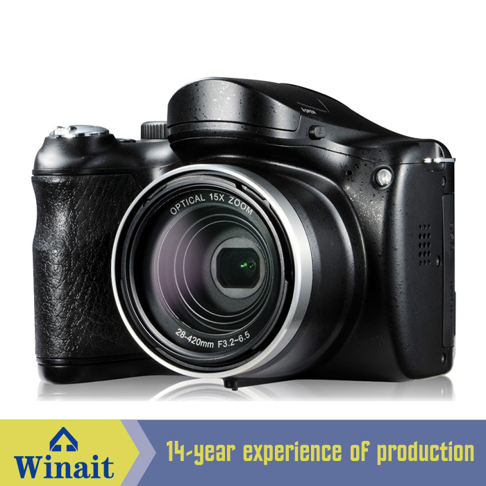 "Professional HD Digital Camera DSLR with 14.1mp CMOS Sensor with 3"" TFT LCD 21x intelligent zoom Long Focus"