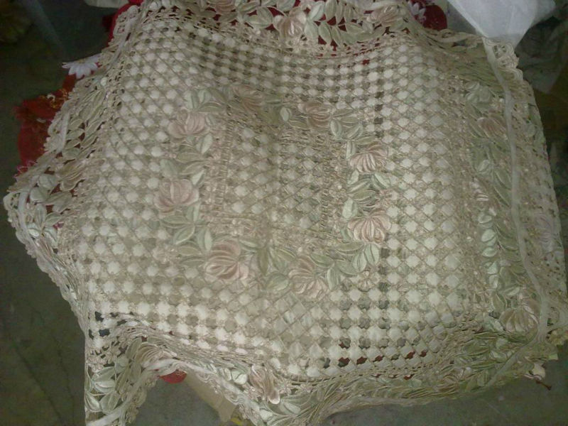 hand cutwork embroidered tablecloths and runners