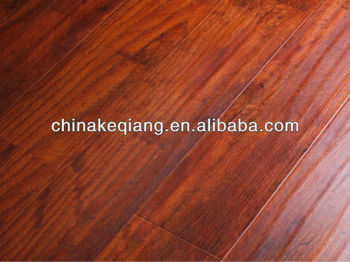 Hand-scraped laminated flooring With WAX