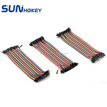 40P 20cm Dupont Line Male to Male, Male to Female, Female to Female Dupont Cable Connector Breadboard Multicolor Jumper Wire