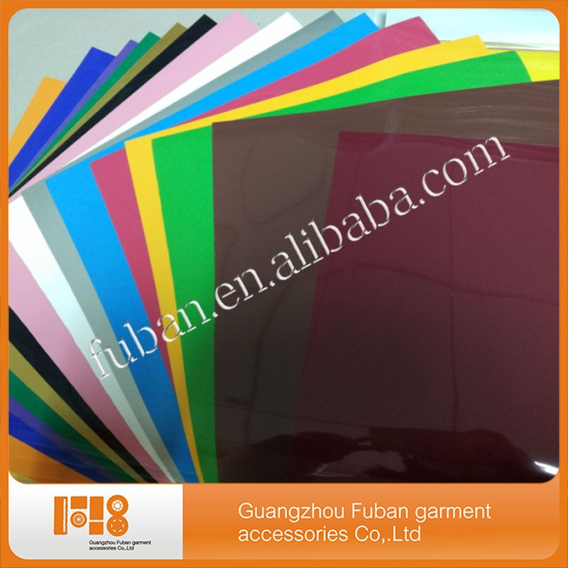Wholesale 10*12inches pu vinyl t shirt textile heat transfer vinyl sheets for clothes
