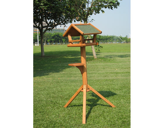 Automatic wild wooden bird feeders for standing on sale