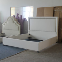 The white prince fabric bed furniture of luxury style for esteemed home design