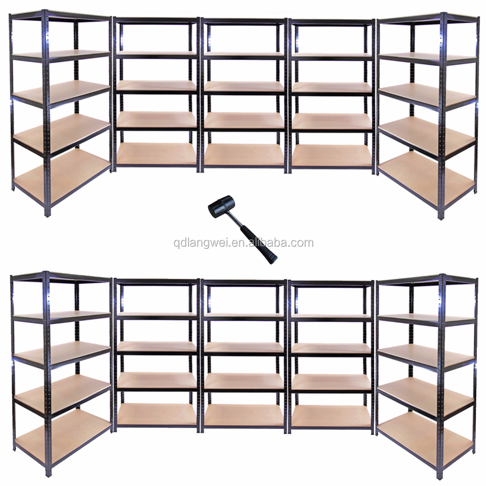 diy heavy duty metal wood storage shelves buy diy. Black Bedroom Furniture Sets. Home Design Ideas