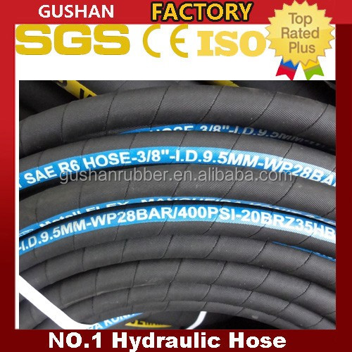 china rubber factory SAE 100 R6 3/8 hydraulic hose