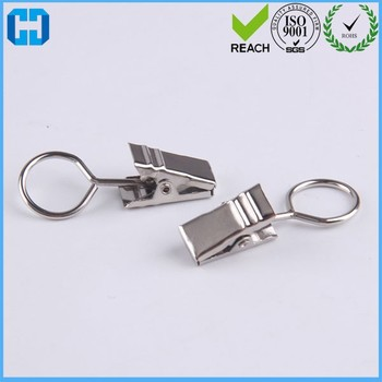 Stainless Steel Window Curtain Hook Metal Rings Clips With Eyelets