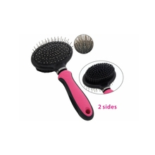 Double Sided Pin & Bristle ABS+TPR Pet Comb Grooming brush Cleans