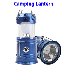 2016 Wholesale Portable Outdoor Rechargeable Solar LED Camping Lantern Light