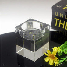 Wholesale crystal cube candle holder for wedding centerpieces